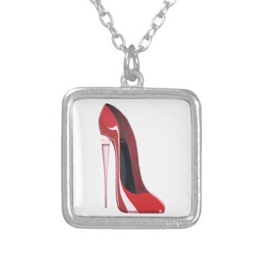 Arte rojo del zapato del estilete del talón de Cha Colgante
