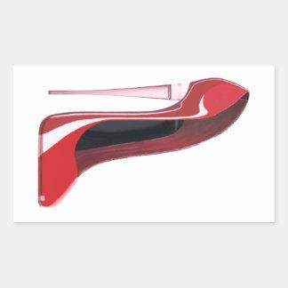 Arte rojo del zapato del estilete del talón de rectangular altavoz