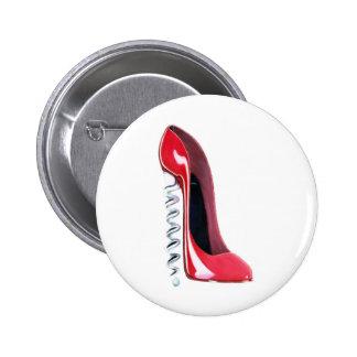 Arte rojo del zapato del estilete del talón del sa pins