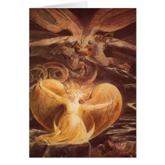 Arte rojo Guillermo Blake del dragón Tarjeta De Felicitación