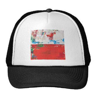 Arte rojo McNulty del paisaje abstracto del Kismet Gorros Bordados
