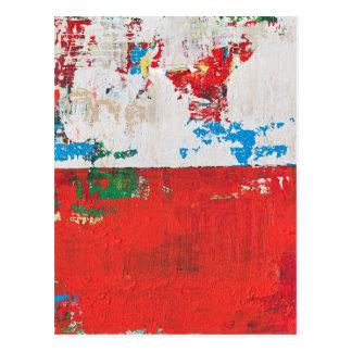 Arte rojo McNulty del paisaje abstracto del Kismet Postales
