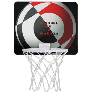 Arte rojo y negro del baloncesto canastas mini