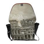 Arte romano del vintage del coliseo bolsas de mensajería