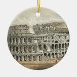 Arte romano del vintage del coliseo ornamento para reyes magos
