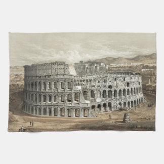 Arte romano del vintage del coliseo toalla de cocina