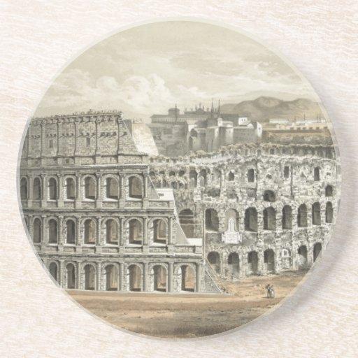 Arte romano del vintage del coliseo posavasos personalizados