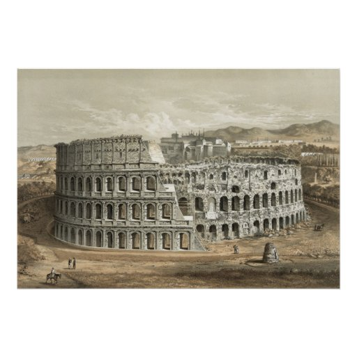 Arte romano del vintage del coliseo posters