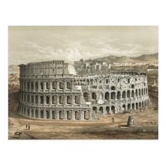 Arte romano del vintage del coliseo postal