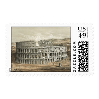 Arte romano del vintage del coliseo timbres postales