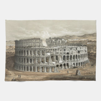 Arte romano del vintage del coliseo toallas de cocina