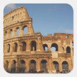 Arte romano. El Colosseum o el Flavian 4 Calcomania Cuadradas Personalizada