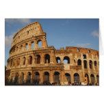 Arte romano. El Colosseum o el Flavian 4 Tarjeta De Felicitación