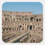 Arte romano. El Colosseum o el Flavian 6 Pegatina Cuadrada