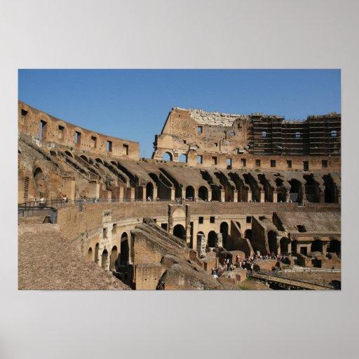 Arte romano. El Colosseum o el Flavian 6 Póster