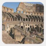 Arte romano. El Colosseum o el Flavian Pegatina Cuadrada