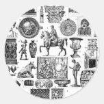 Arte romano pegatinas redondas
