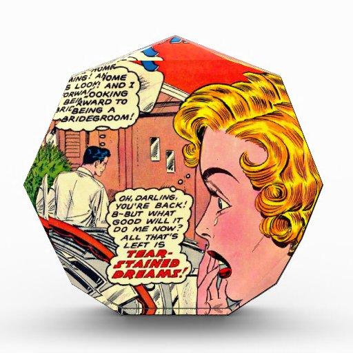 Arte romántico - arte cómico romántico del vintage