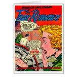 Arte romántico - arte cómico romántico del vintage tarjetón