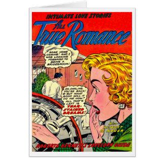 Arte romántico - arte cómico romántico del vintage tarjeta pequeña
