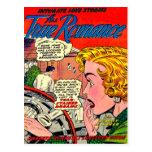 Arte romántico - arte cómico romántico del vintage tarjeta postal