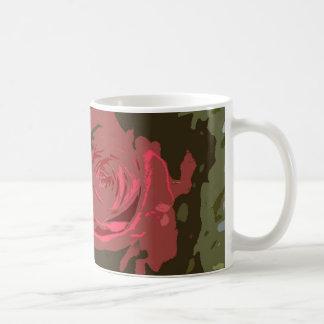 Arte romántico de Digitaces de los rosas rojos Taza