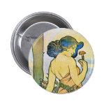 Arte romántico del vintage pin
