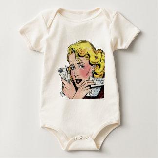 Arte romántico del vintage - primer romántico se traje de bebé