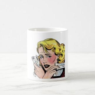 Arte romántico del vintage - primer romántico se r tazas de café