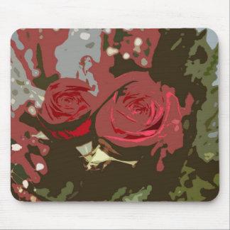Arte romántico Mousepad de Digitaces de los rosas