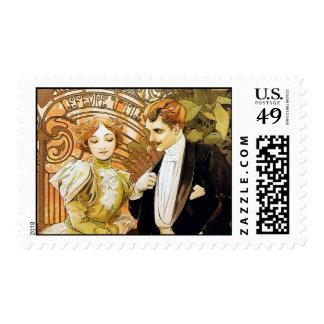 Arte romántico Nouveau del vintage del ligón de Sellos