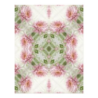 """Arte rosado 10 del caleidoscopio de los crisantemo folleto 8.5"""" x 11"""""""