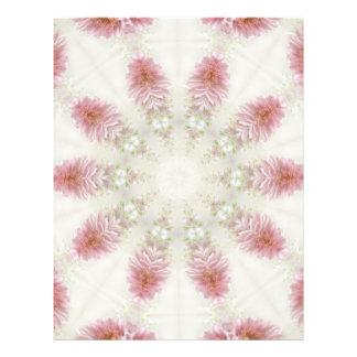 """Arte rosado 2 del caleidoscopio de los crisantemos folleto 8.5"""" x 11"""""""