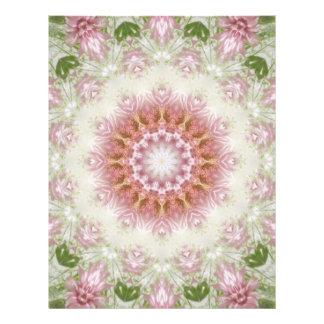 """Arte rosado 3 del caleidoscopio de los crisantemos folleto 8.5"""" x 11"""""""
