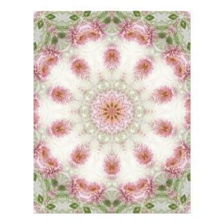 """Arte rosado 6 del caleidoscopio de los crisantemos folleto 8.5"""" x 11"""""""