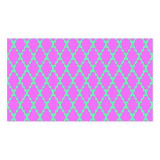 Arte rosado a cuadros geométrico de moda del tarjetas de visita
