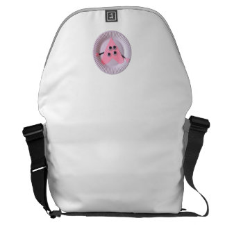Arte rosado año del niño del corazón tres bolsas de mensajería