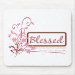 arte rosado cristiano de la voluta tapetes de ratón