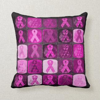 Arte rosado de la cinta, conciencia del cáncer de  cojines