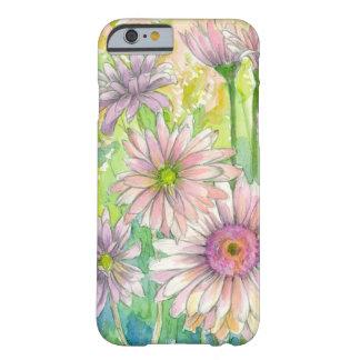 Arte rosado de la flor de la acuarela del ramo de funda barely there iPhone 6