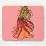 Arte rosado de la mujer de la diosa de la bailarin tapete de raton