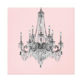 Arte rosado de la pared de la lona de la lámpara impresiones en lienzo estiradas
