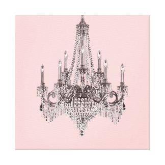 Arte rosado de la pared de la lona de la lámpara impresión en lona