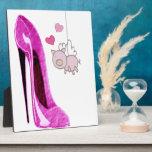 Arte rosado del cerdo del estilete y del vuelo placas con foto