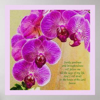 Arte rosado del cristiano del personalizado del sa posters