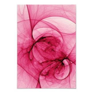 Arte rosado del fractal invitación 8,9 x 12,7 cm