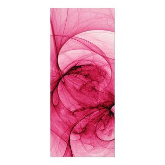 Arte rosado del fractal invitación 10,1 x 23,5 cm