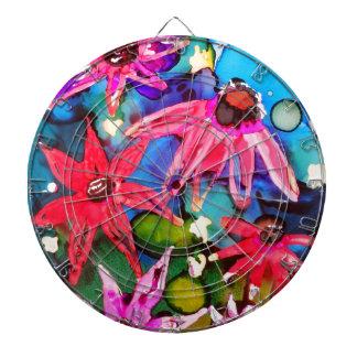 Arte rosado del jardín de flores del cono tablero dardos