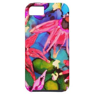 Arte rosado del jardín de flores del cono iPhone 5 Case-Mate cárcasa