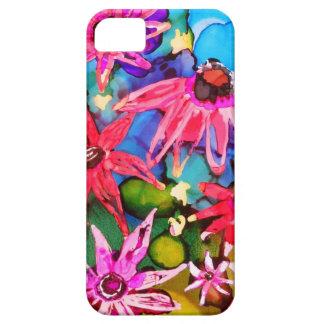 Arte rosado del jardín de flores del cono iPhone 5 fundas